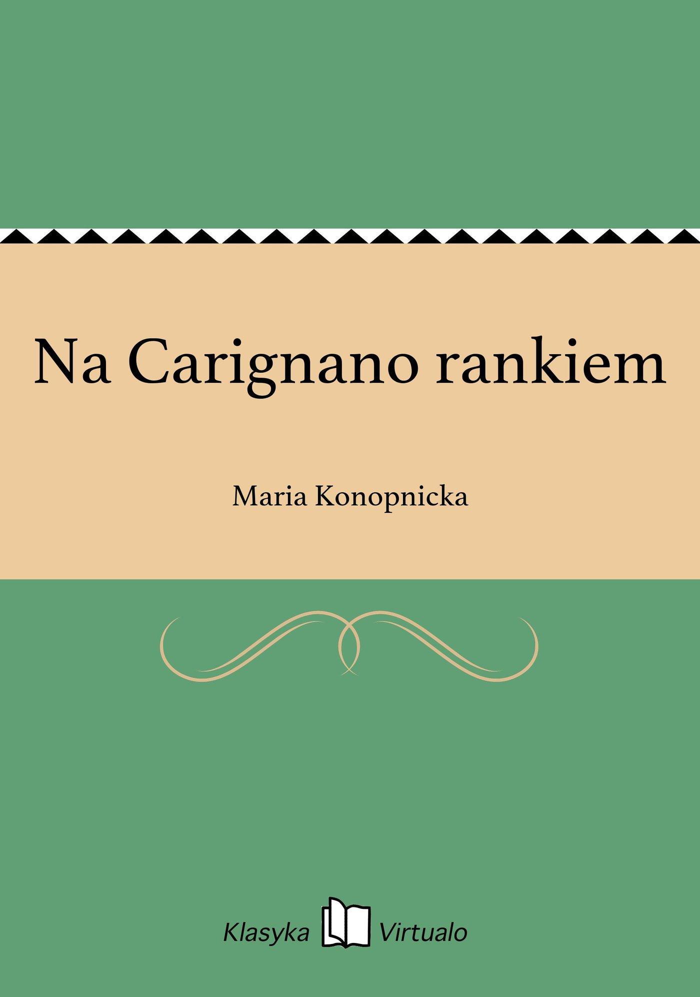 Na Carignano rankiem - Ebook (Książka EPUB) do pobrania w formacie EPUB
