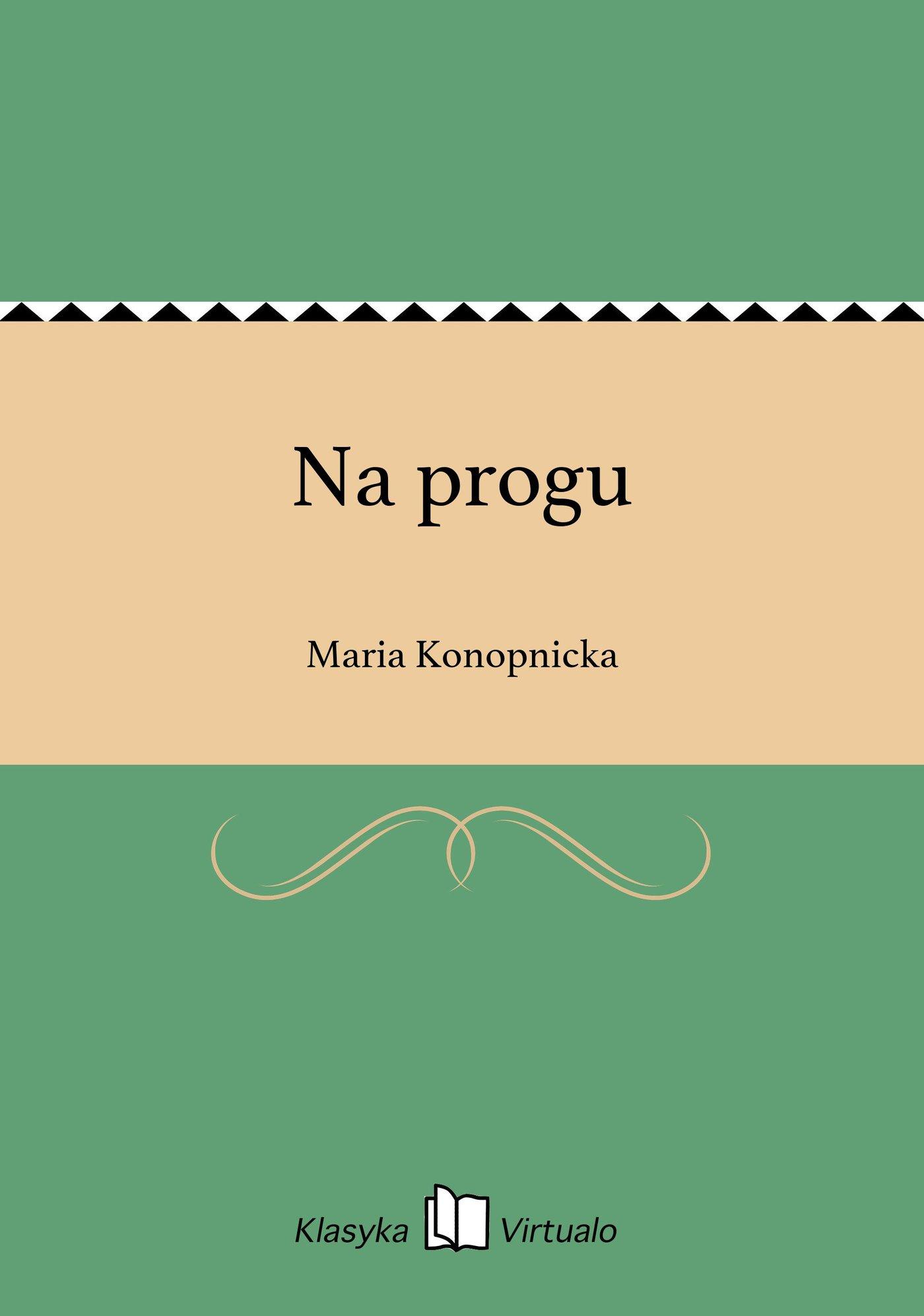Na progu - Ebook (Książka EPUB) do pobrania w formacie EPUB