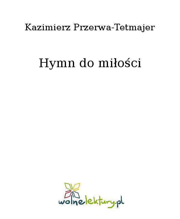Hymn do miłości - Ebook (Książka EPUB) do pobrania w formacie EPUB