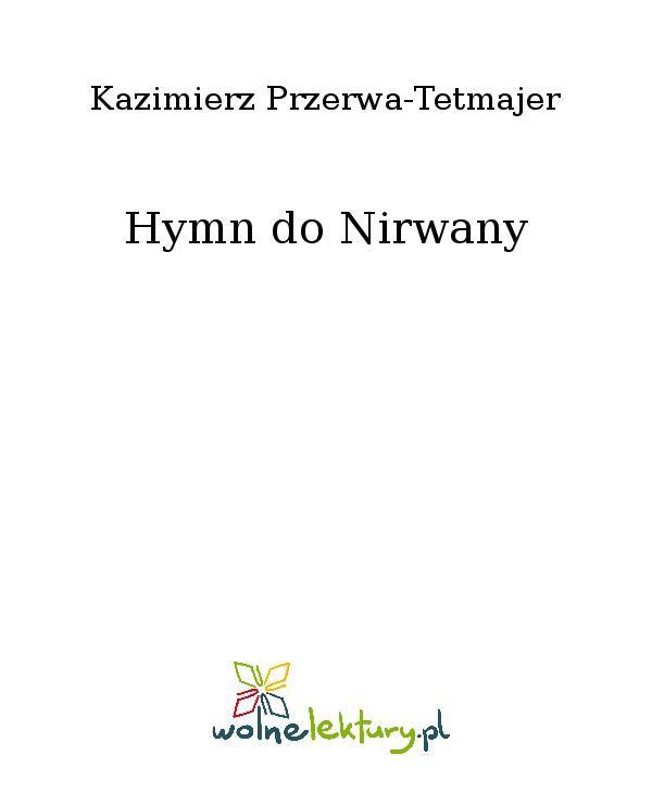Hymn do Nirwany - Ebook (Książka EPUB) do pobrania w formacie EPUB