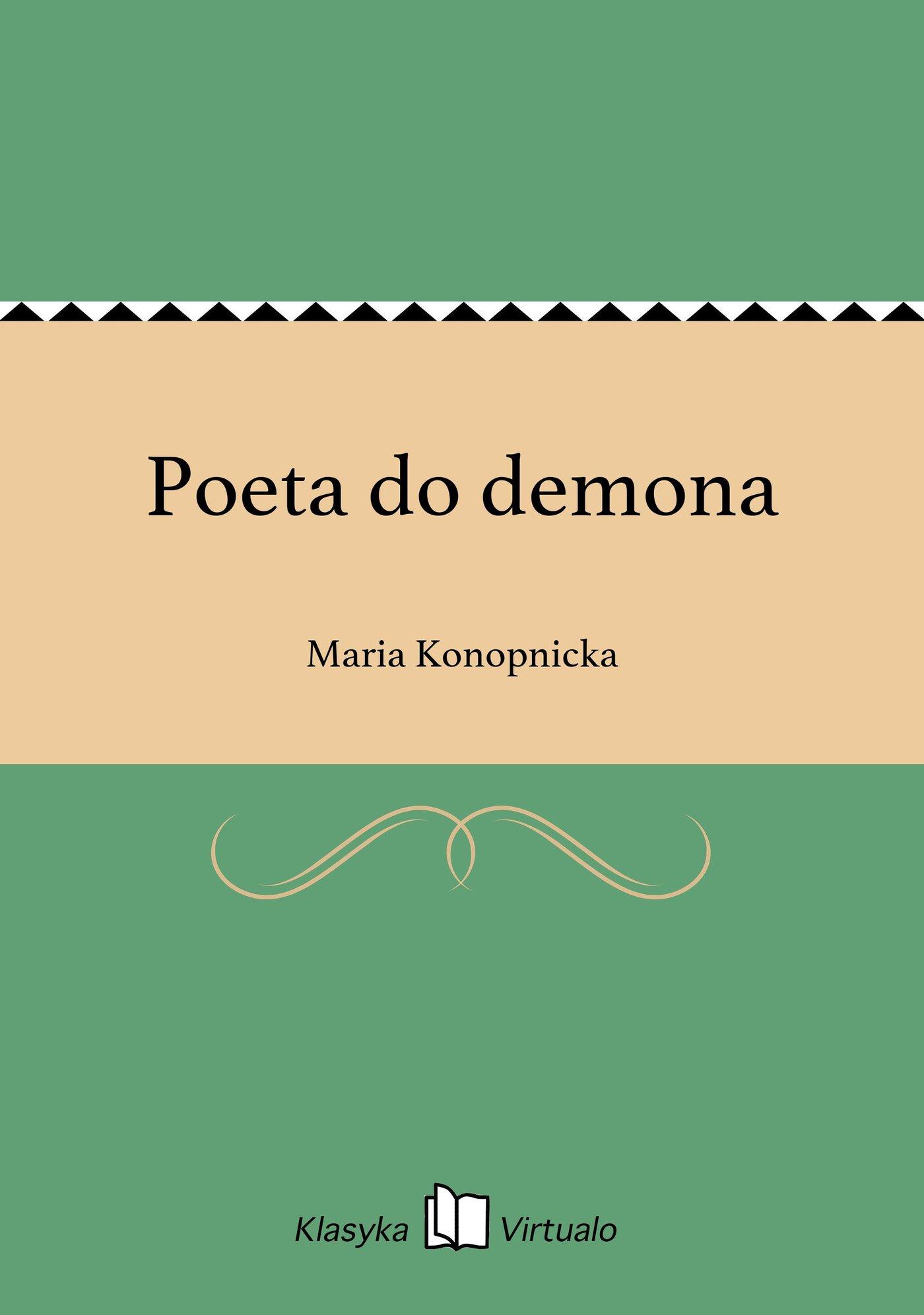 Poeta do demona - Ebook (Książka EPUB) do pobrania w formacie EPUB