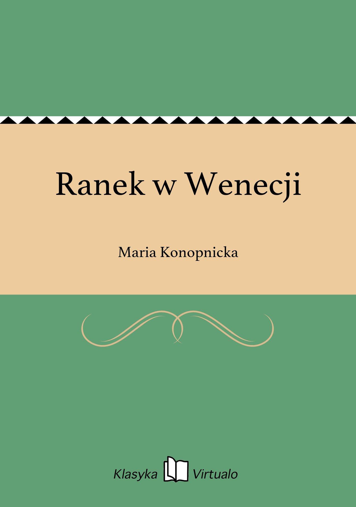 Ranek w Wenecji - Ebook (Książka EPUB) do pobrania w formacie EPUB