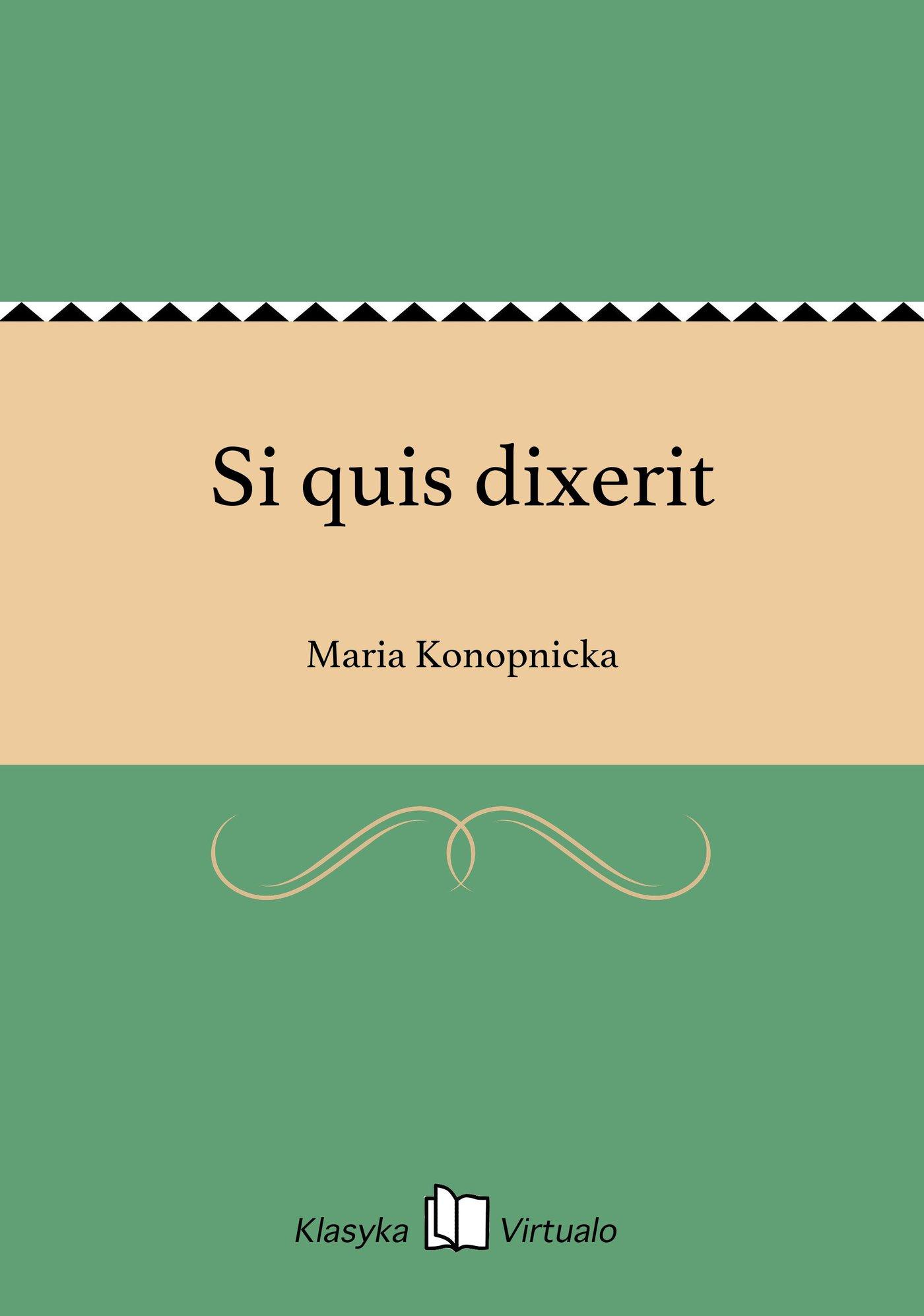Si quis dixerit - Ebook (Książka EPUB) do pobrania w formacie EPUB
