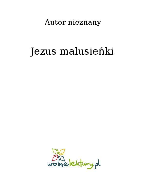 Jezus malusieńki - Ebook (Książka EPUB) do pobrania w formacie EPUB