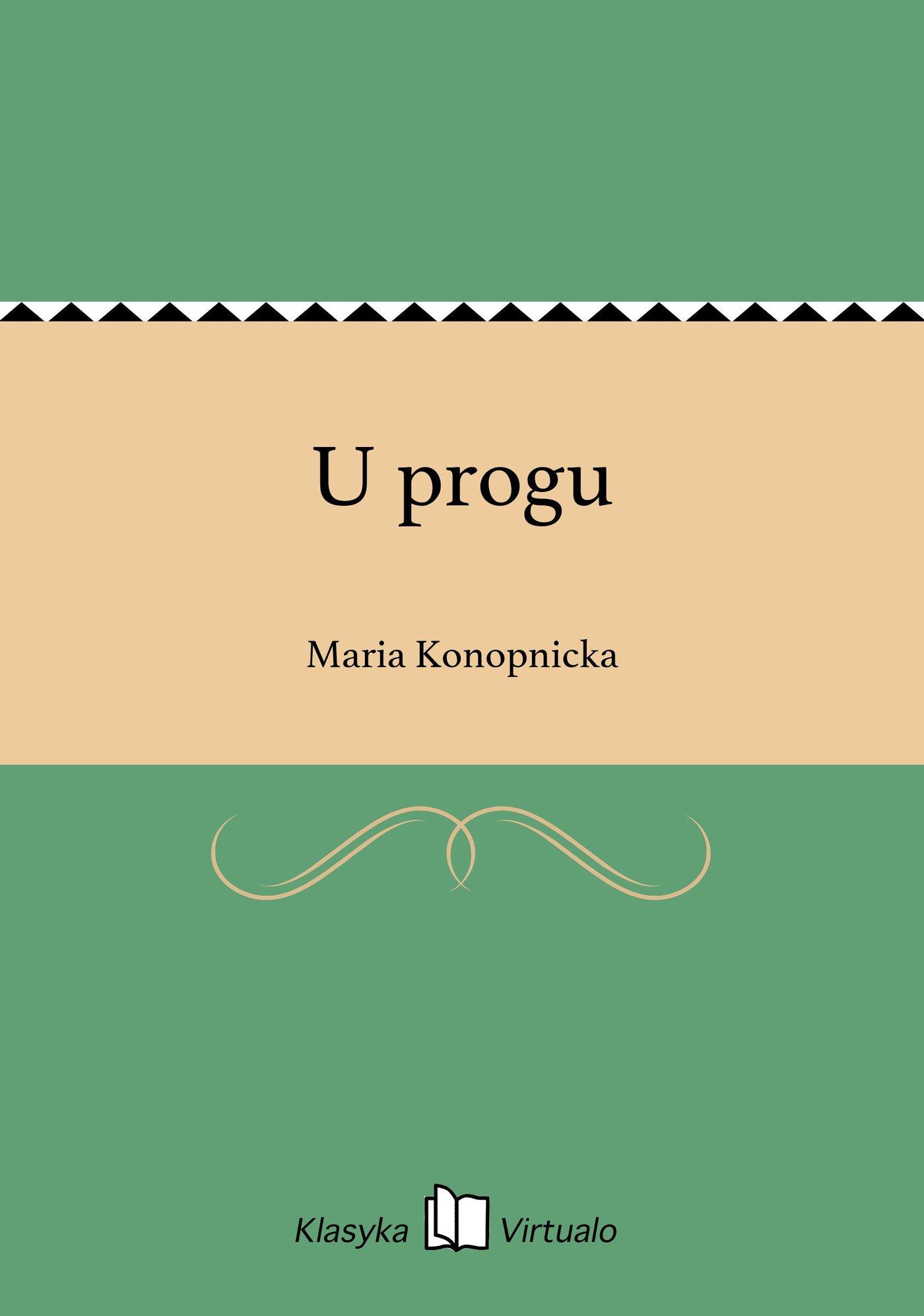 U progu - Ebook (Książka EPUB) do pobrania w formacie EPUB