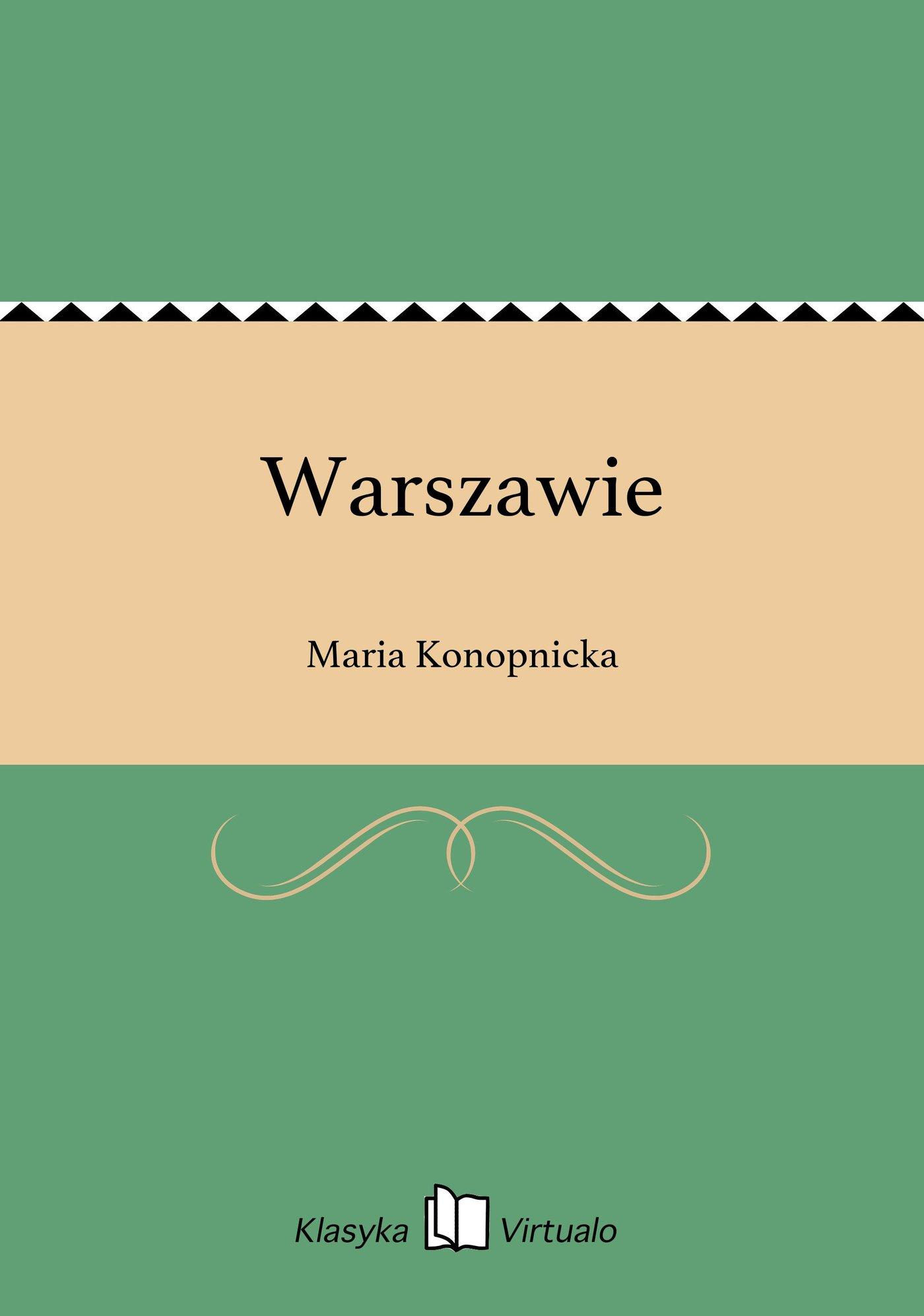 Warszawie - Ebook (Książka EPUB) do pobrania w formacie EPUB