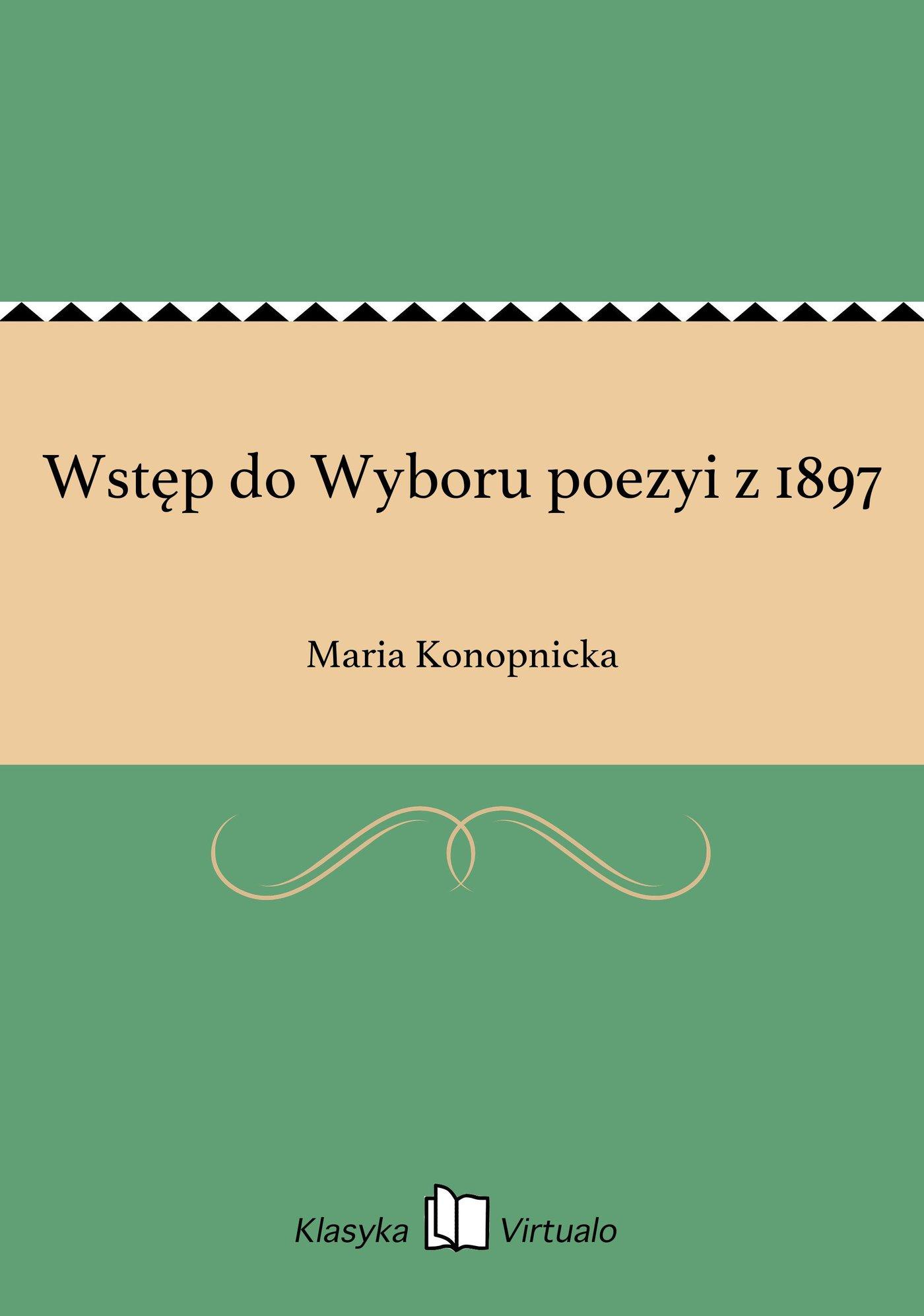 Wstęp do Wyboru poezyi z 1897 - Ebook (Książka EPUB) do pobrania w formacie EPUB
