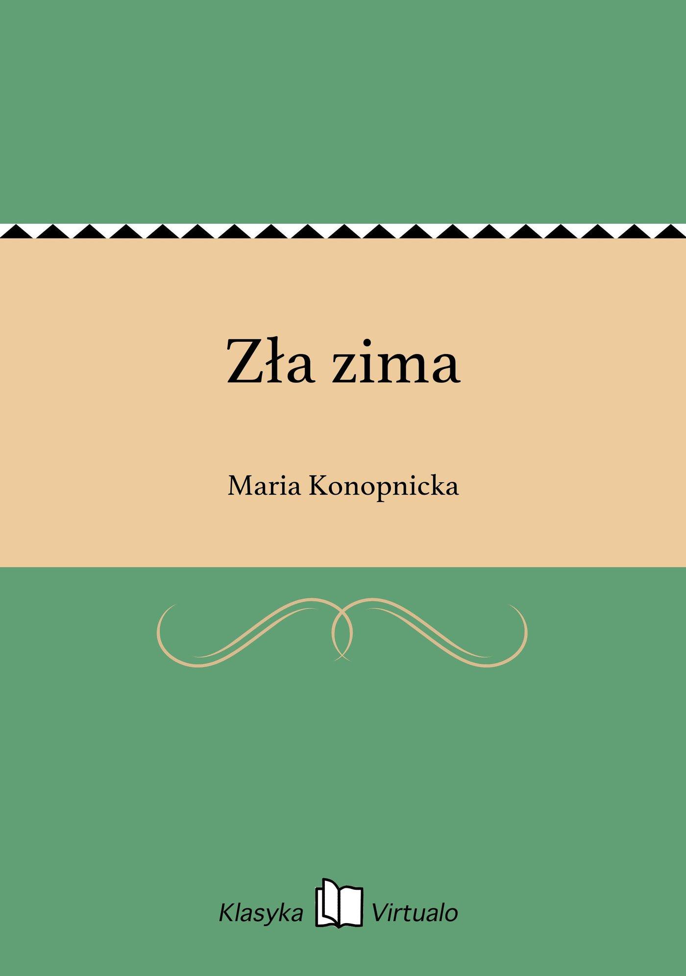 Zła zima - Ebook (Książka EPUB) do pobrania w formacie EPUB