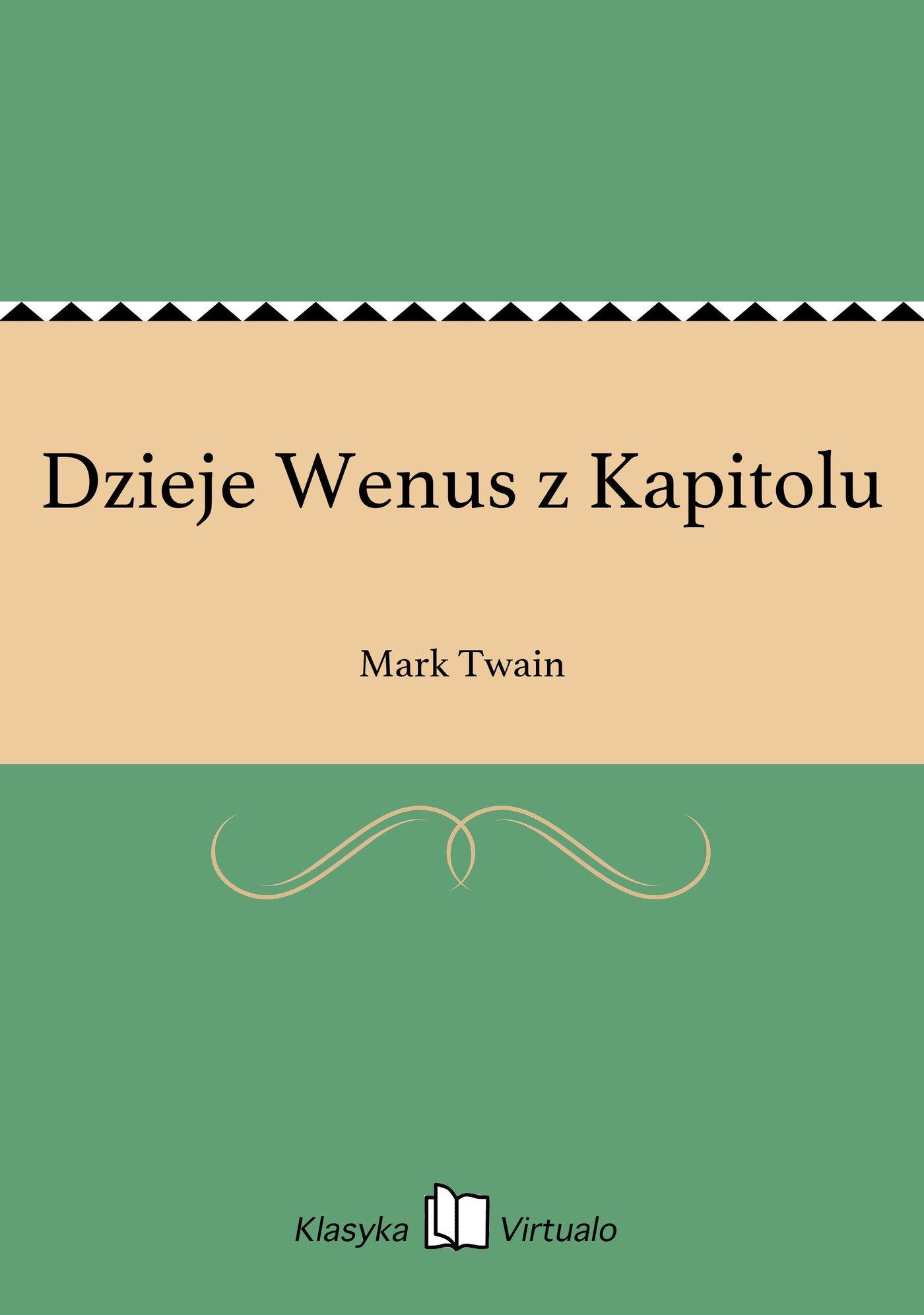 Dzieje Wenus z Kapitolu - Ebook (Książka EPUB) do pobrania w formacie EPUB