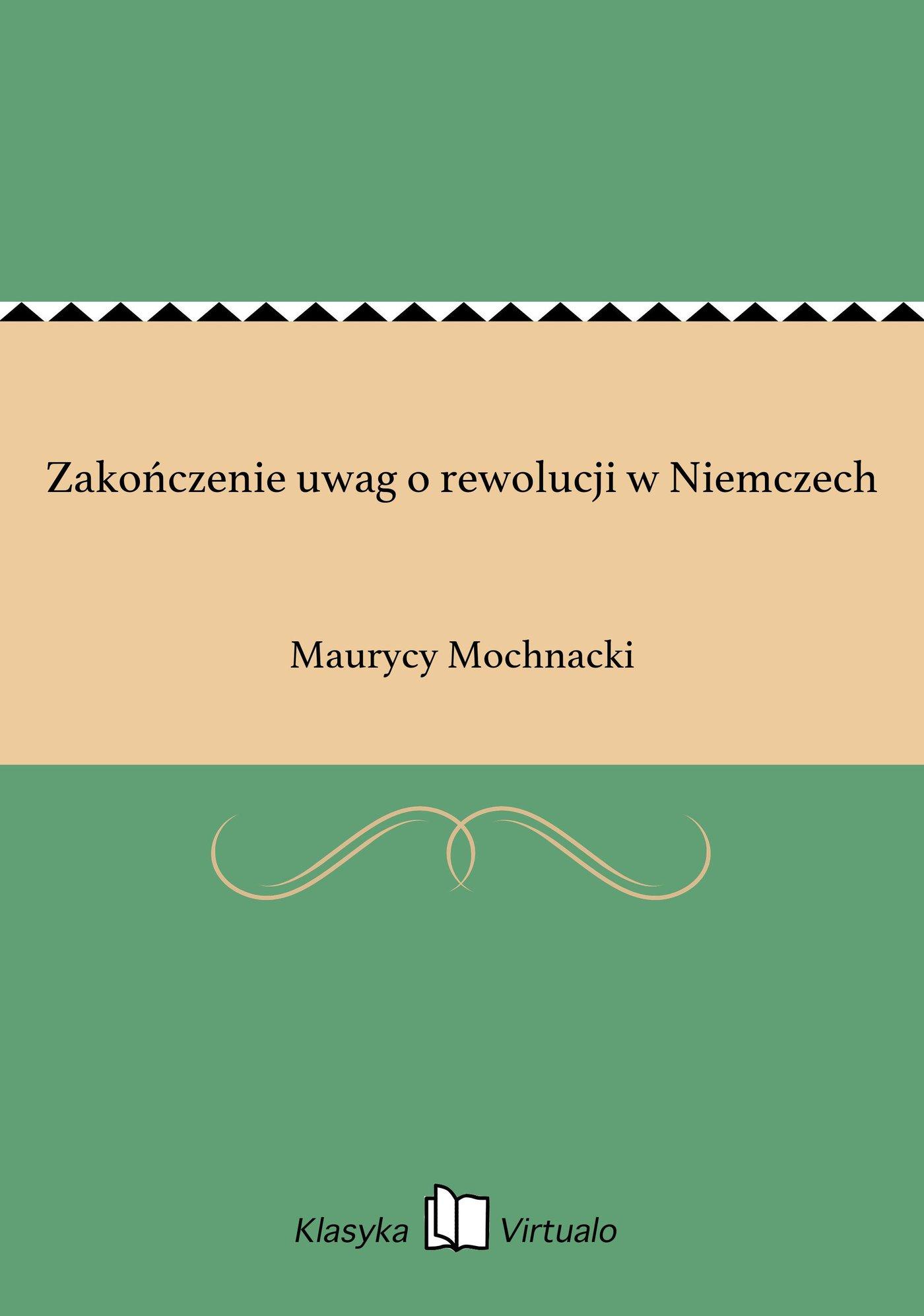 Zakończenie uwag o rewolucji w Niemczech - Ebook (Książka EPUB) do pobrania w formacie EPUB