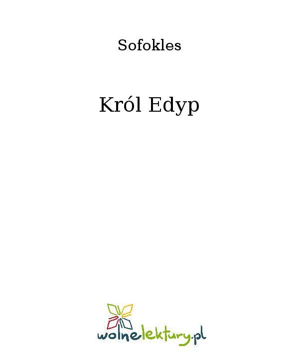 Król Edyp - Ebook (Książka EPUB) do pobrania w formacie EPUB