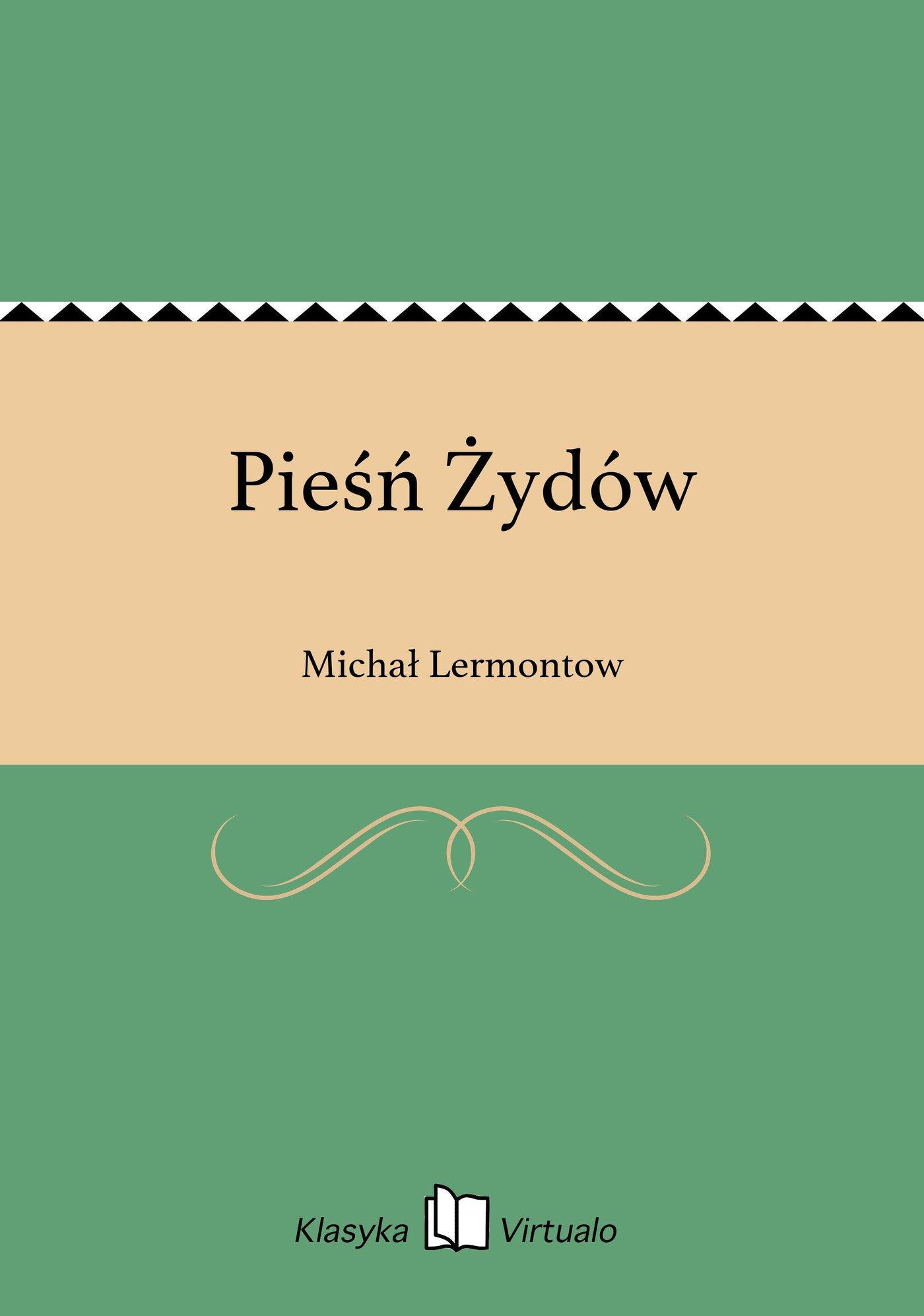 Pieśń Żydów - Ebook (Książka EPUB) do pobrania w formacie EPUB