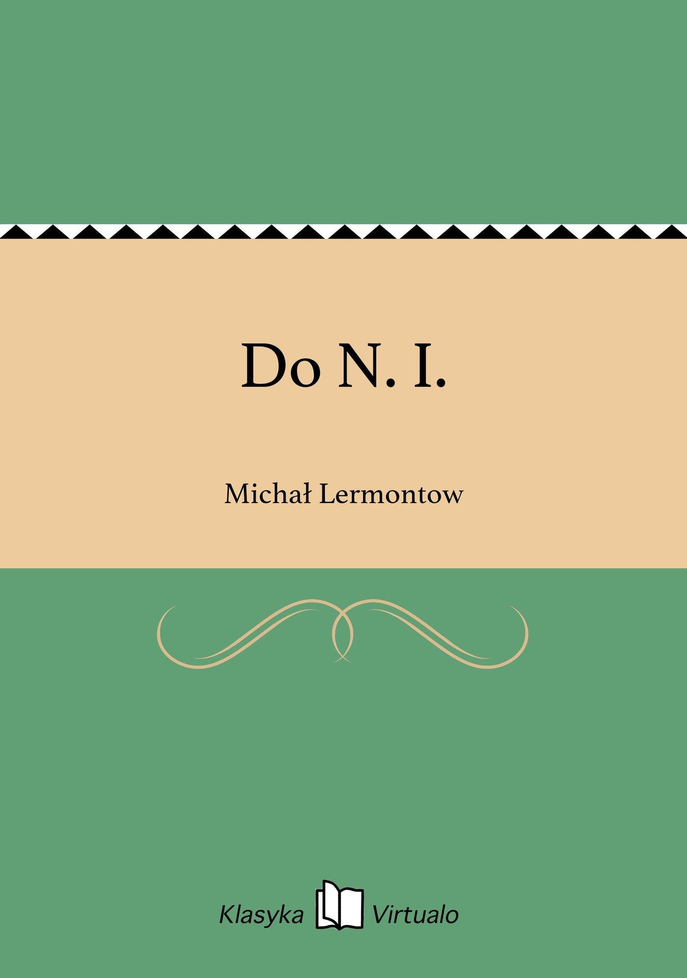 Do N. I. - Ebook (Książka EPUB) do pobrania w formacie EPUB