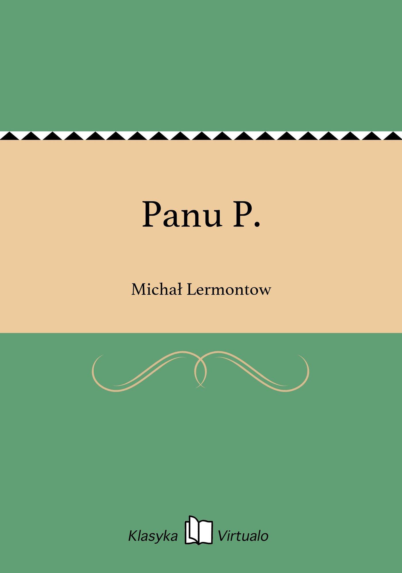 Panu P. - Ebook (Książka EPUB) do pobrania w formacie EPUB