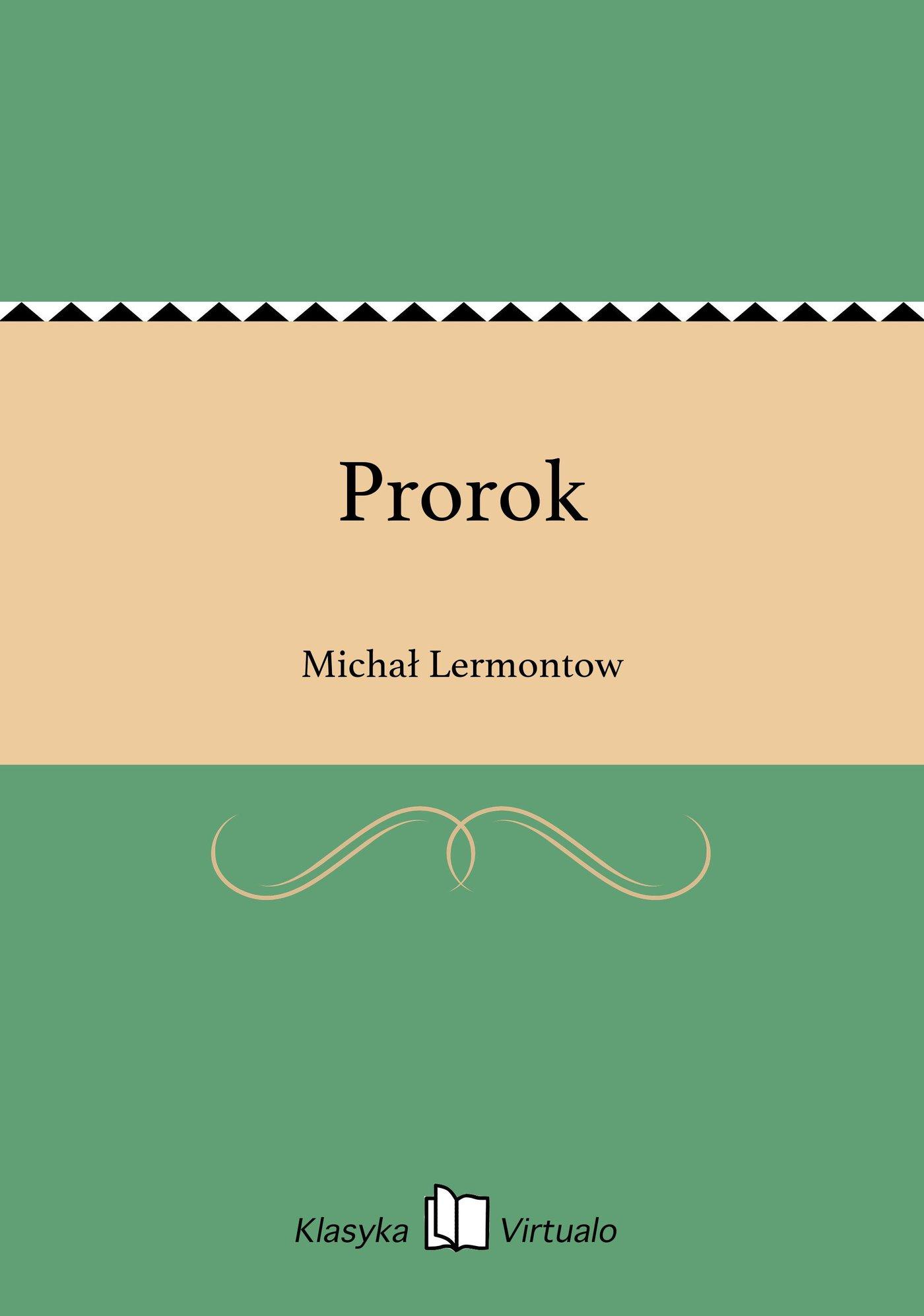 Prorok - Ebook (Książka EPUB) do pobrania w formacie EPUB