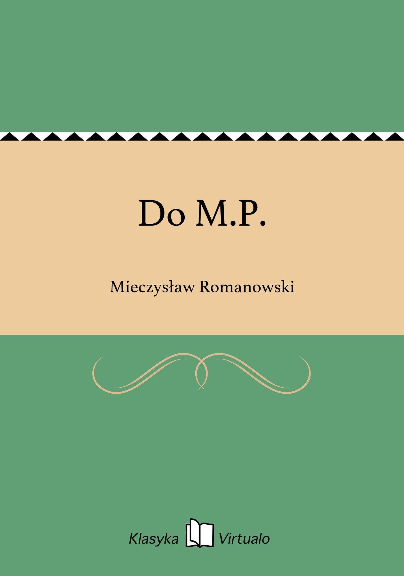 Do M.P. - Ebook (Książka EPUB) do pobrania w formacie EPUB