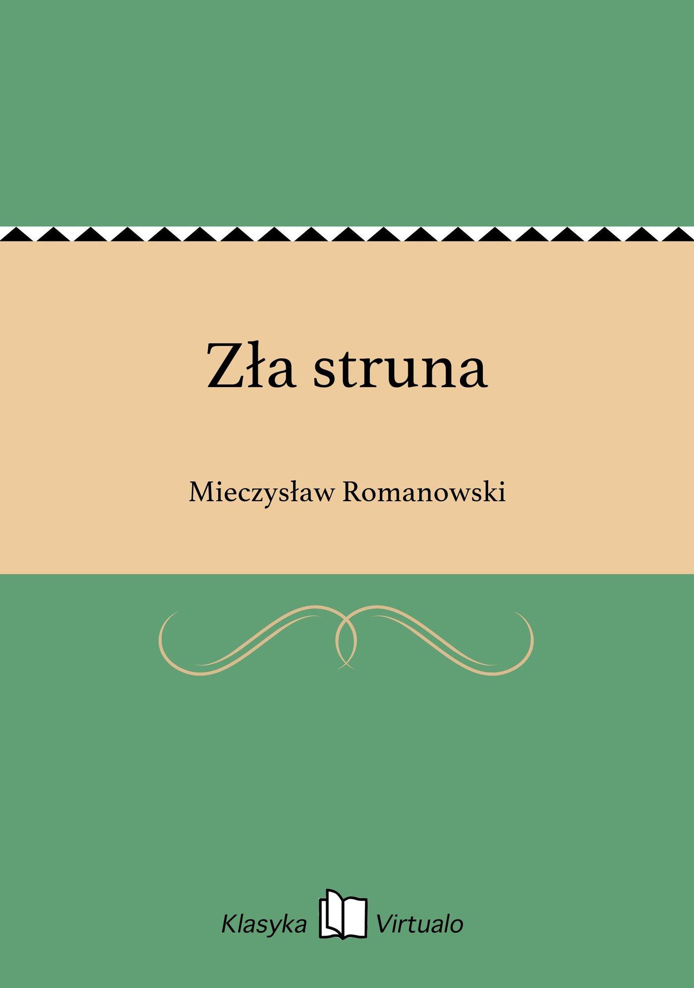Zła struna - Ebook (Książka EPUB) do pobrania w formacie EPUB