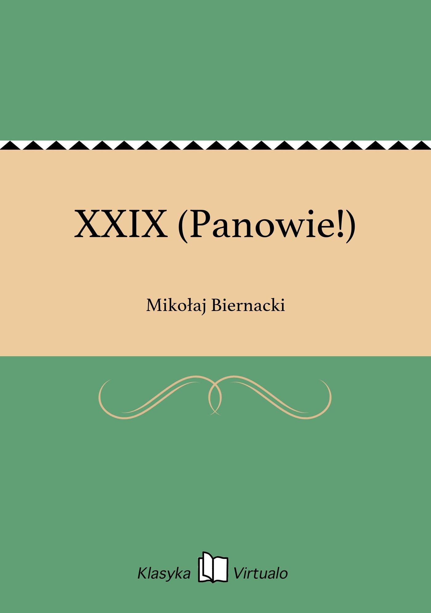 XXIX (Panowie!) - Ebook (Książka EPUB) do pobrania w formacie EPUB