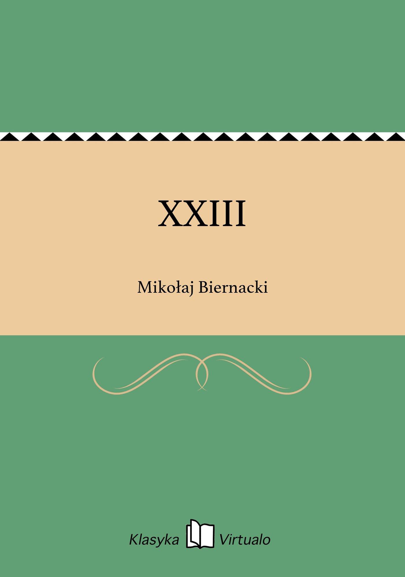 XXIII - Ebook (Książka EPUB) do pobrania w formacie EPUB
