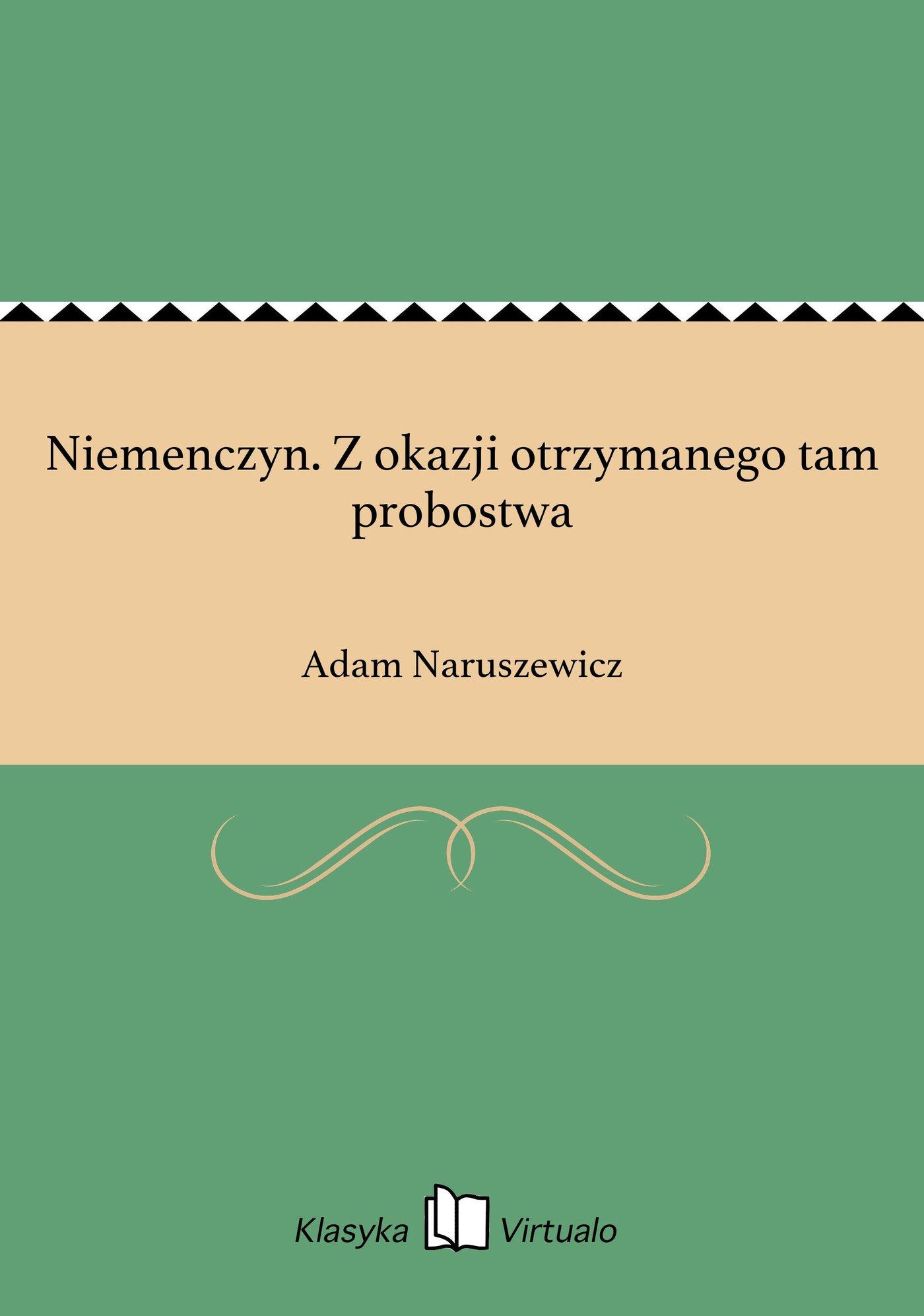 Niemenczyn. Z okazji otrzymanego tam probostwa - Ebook (Książka EPUB) do pobrania w formacie EPUB