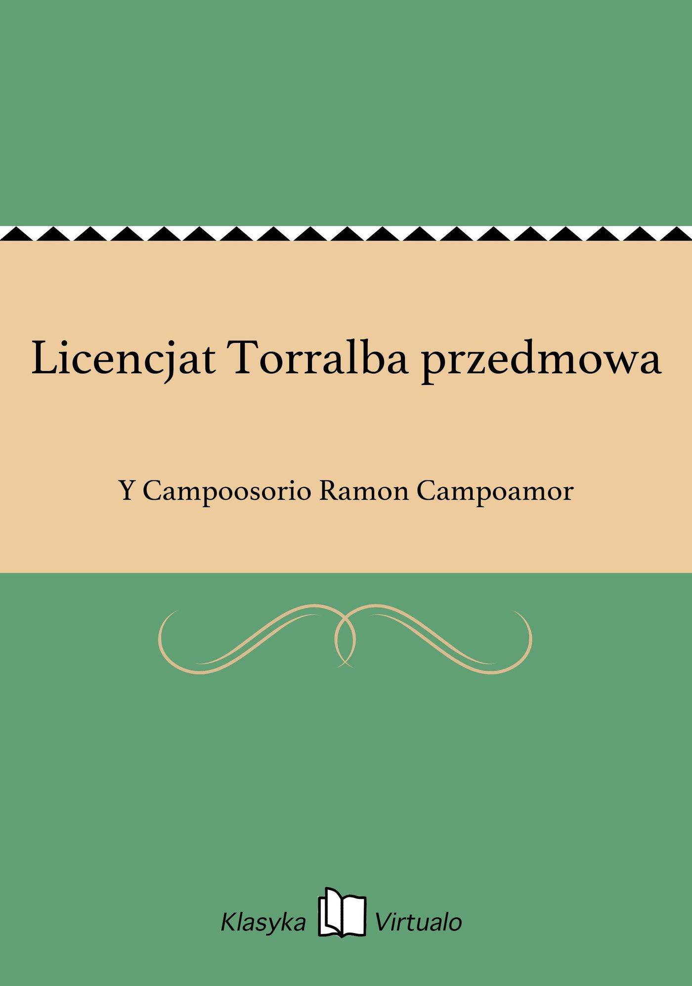 Licencjat Torralba przedmowa - Ebook (Książka EPUB) do pobrania w formacie EPUB