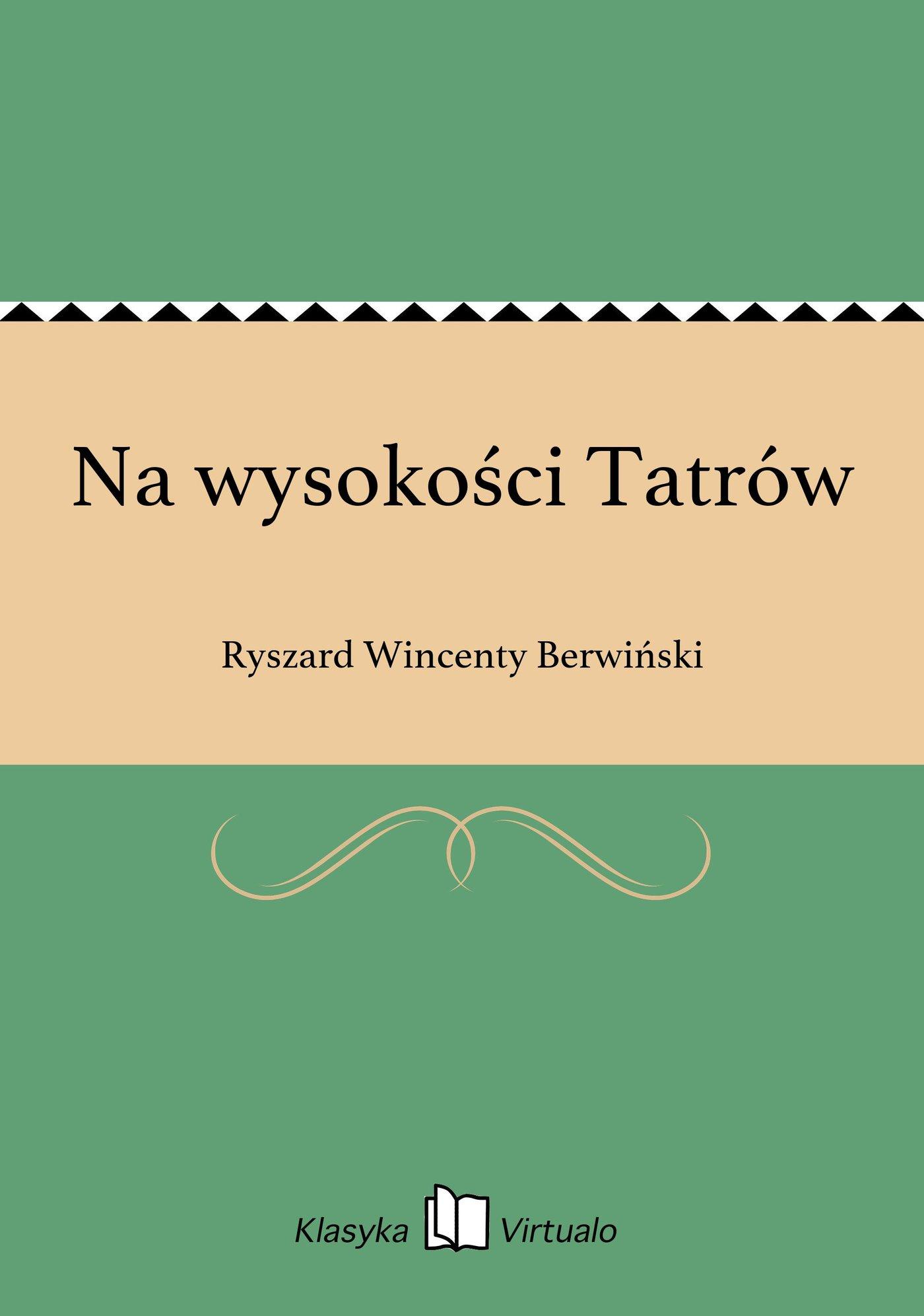 Na wysokości Tatrów - Ebook (Książka EPUB) do pobrania w formacie EPUB