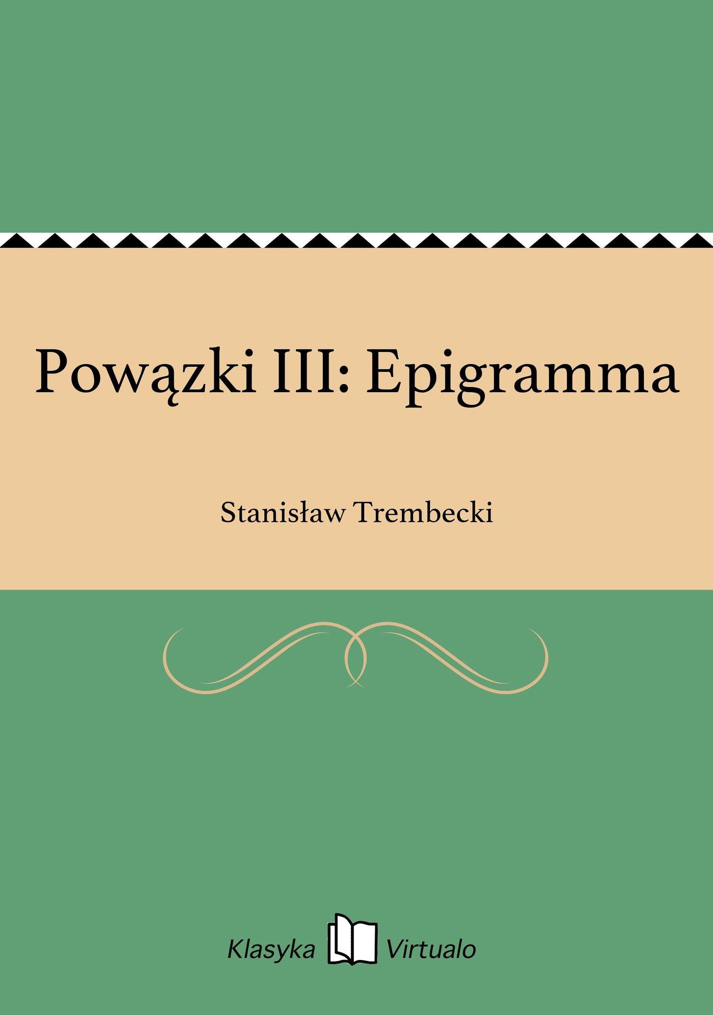 Powązki III: Epigramma - Ebook (Książka EPUB) do pobrania w formacie EPUB