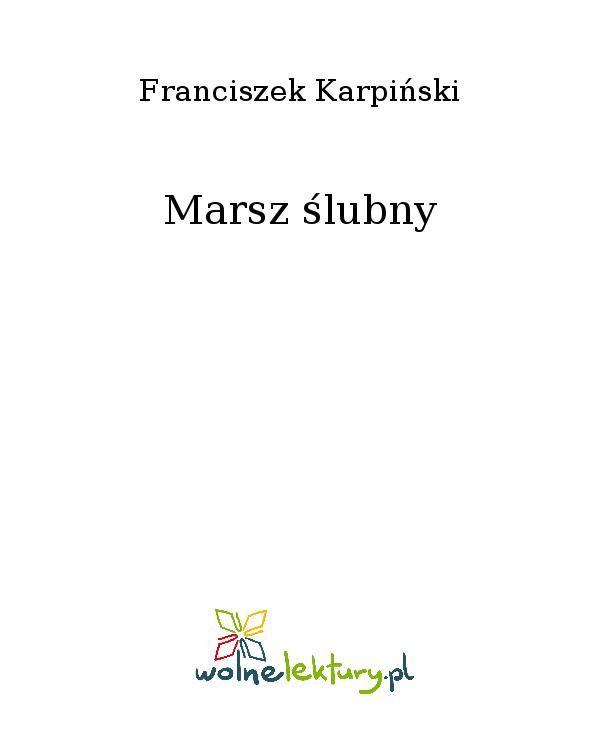 Marsz ślubny - Ebook (Książka EPUB) do pobrania w formacie EPUB