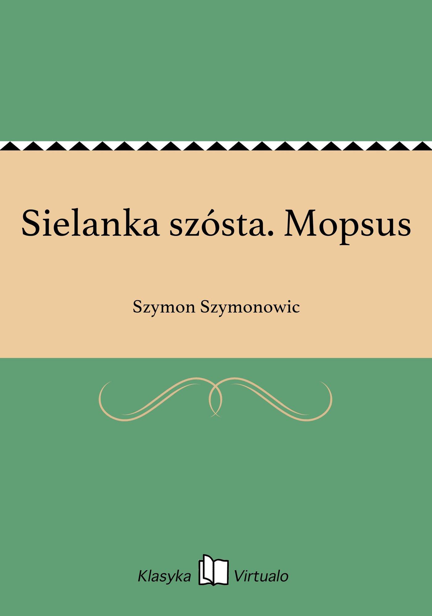 Sielanka szósta. Mopsus - Ebook (Książka EPUB) do pobrania w formacie EPUB