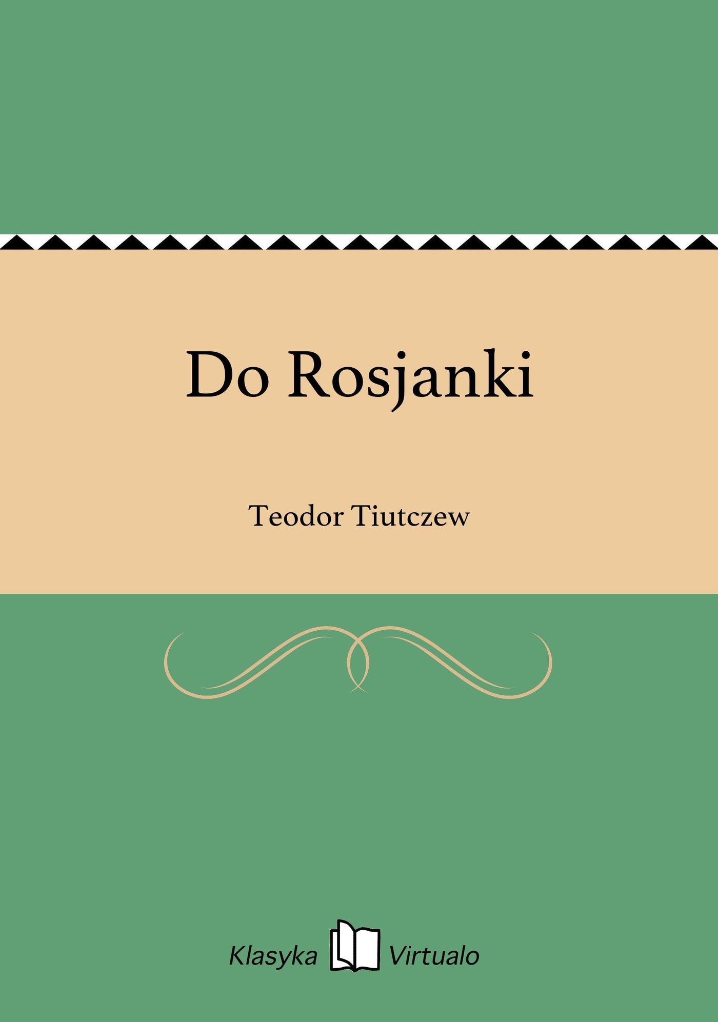 Do Rosjanki - Ebook (Książka EPUB) do pobrania w formacie EPUB