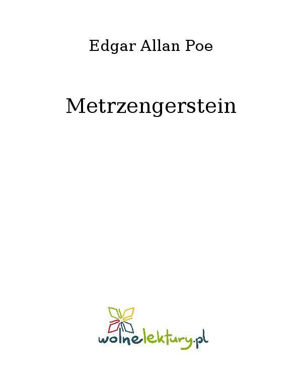 Metrzengerstein - Ebook (Książka EPUB) do pobrania w formacie EPUB