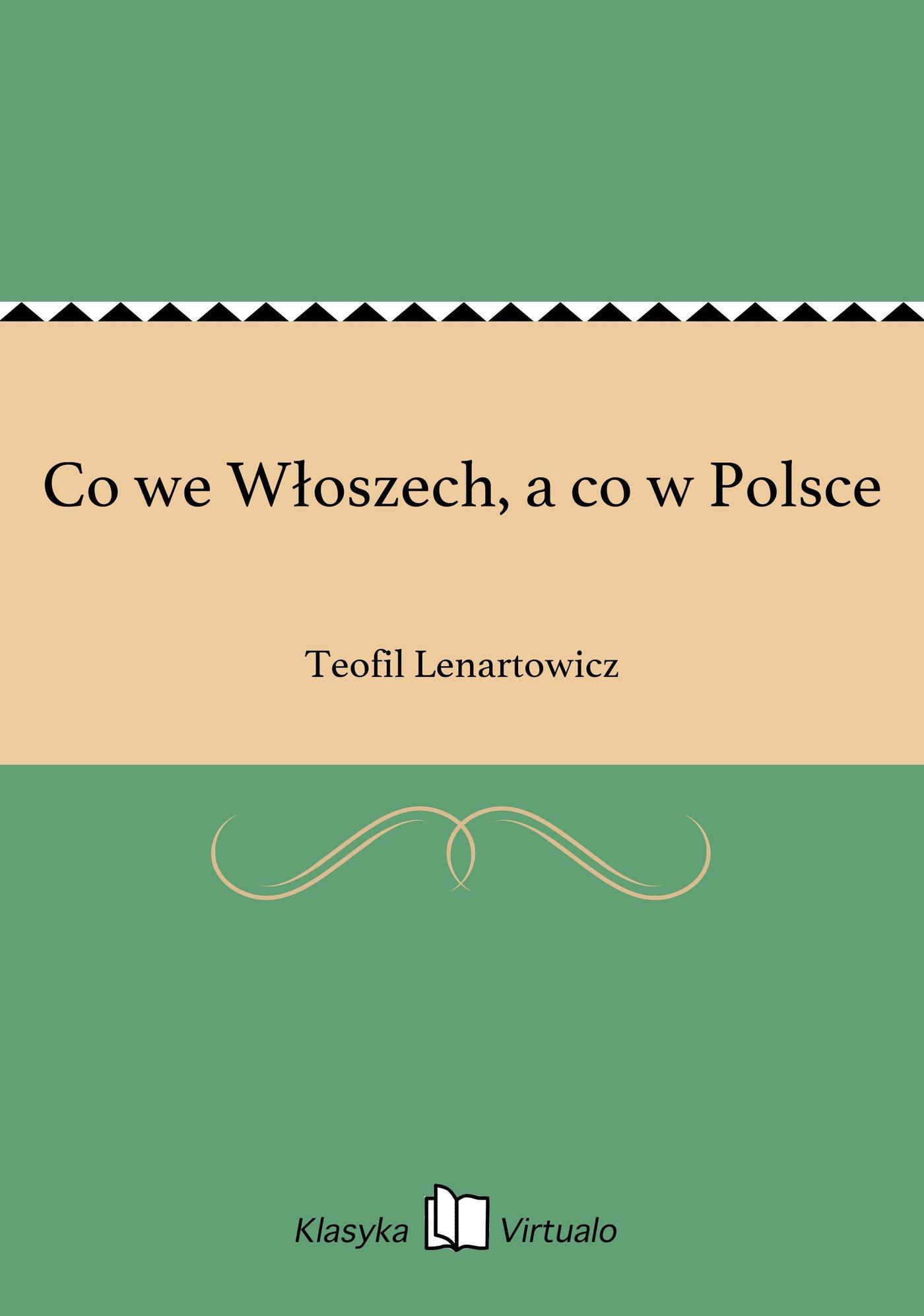 Co we Włoszech, a co w Polsce - Ebook (Książka EPUB) do pobrania w formacie EPUB