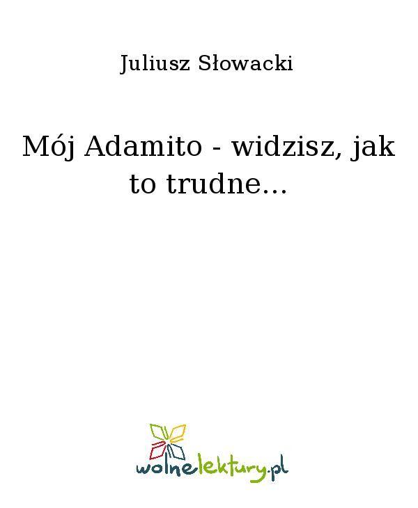 Mój Adamito - widzisz, jak to trudne... - Ebook (Książka EPUB) do pobrania w formacie EPUB