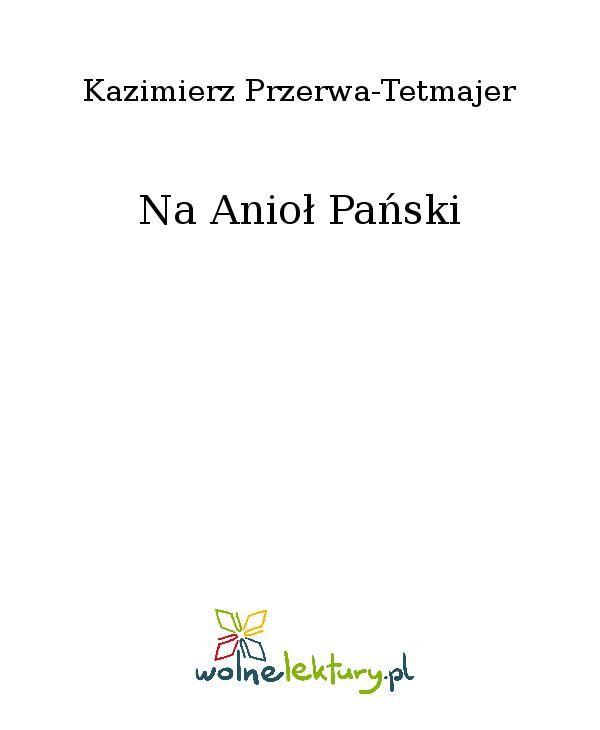 Na Anioł Pański - Ebook (Książka EPUB) do pobrania w formacie EPUB