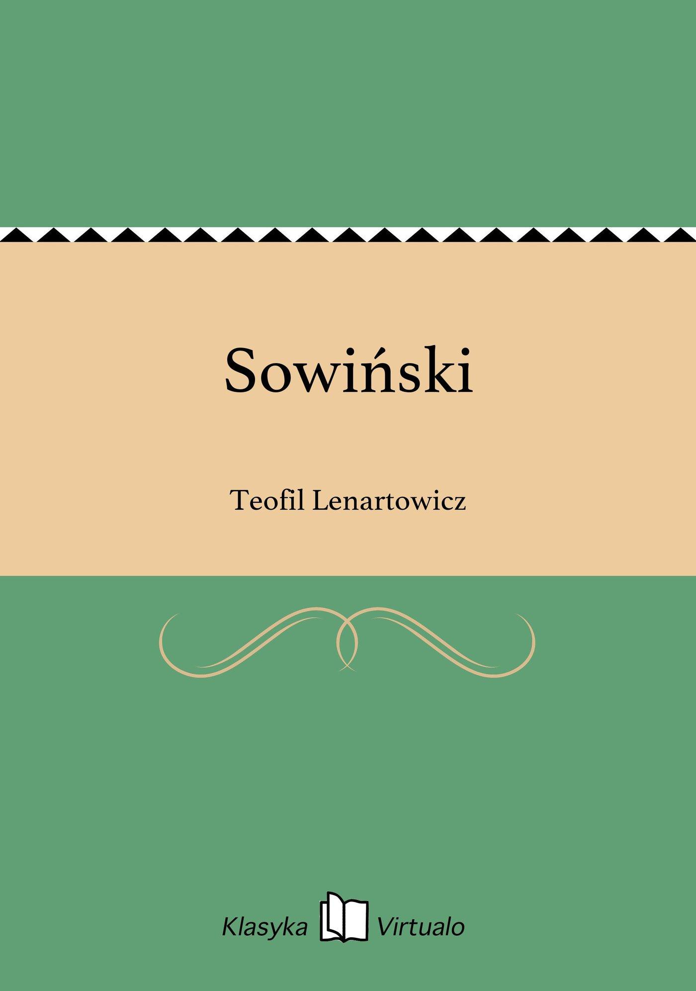 Sowiński - Ebook (Książka EPUB) do pobrania w formacie EPUB