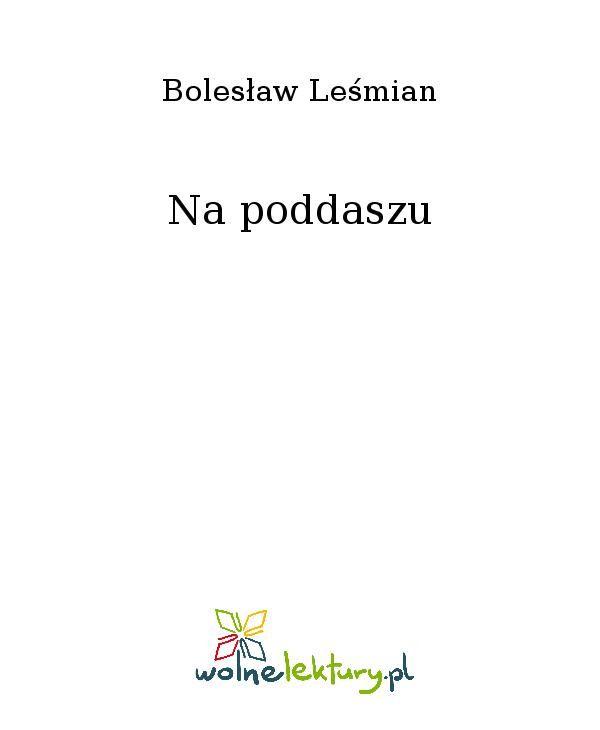 Na poddaszu - Ebook (Książka EPUB) do pobrania w formacie EPUB