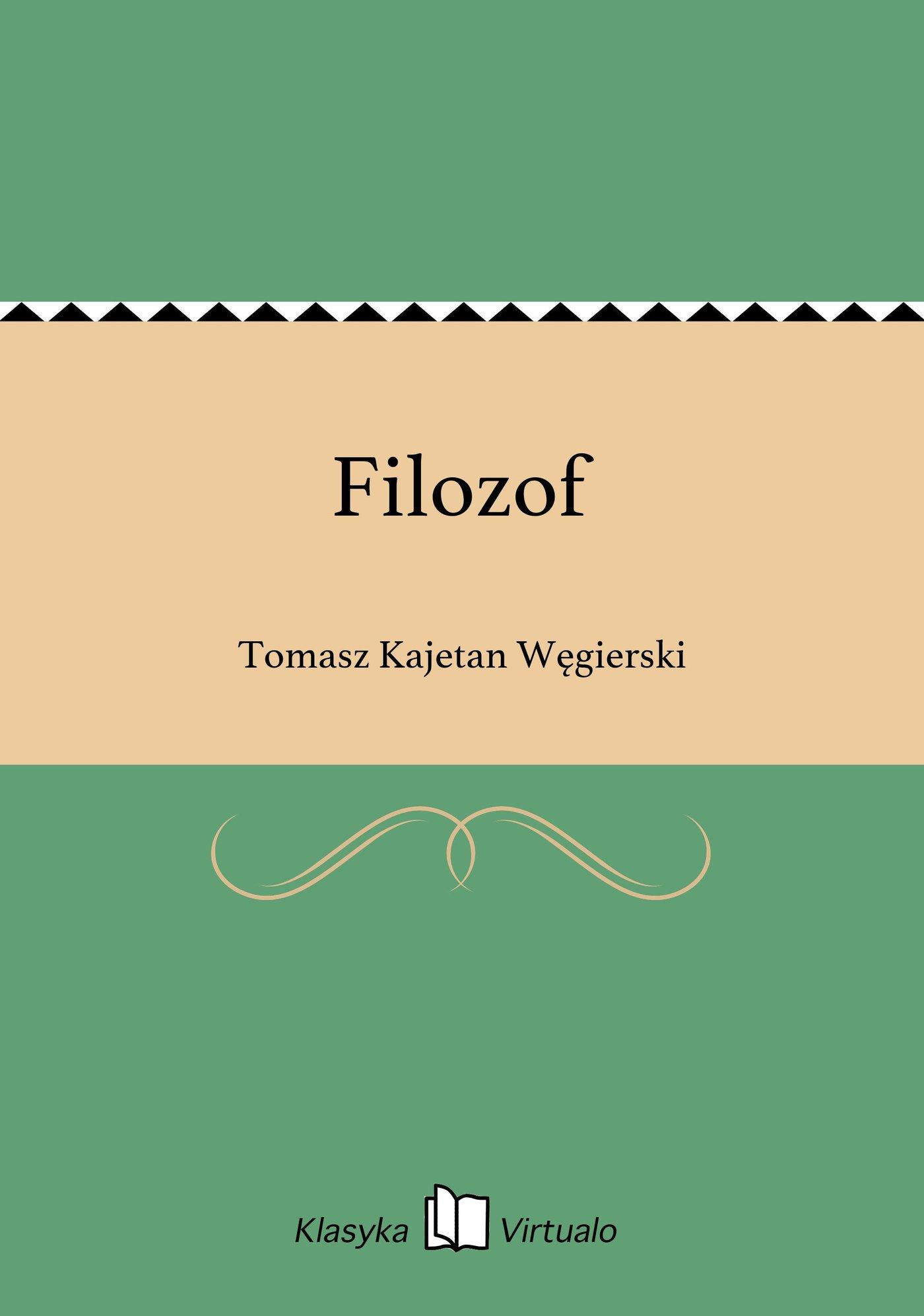 Filozof - Ebook (Książka EPUB) do pobrania w formacie EPUB
