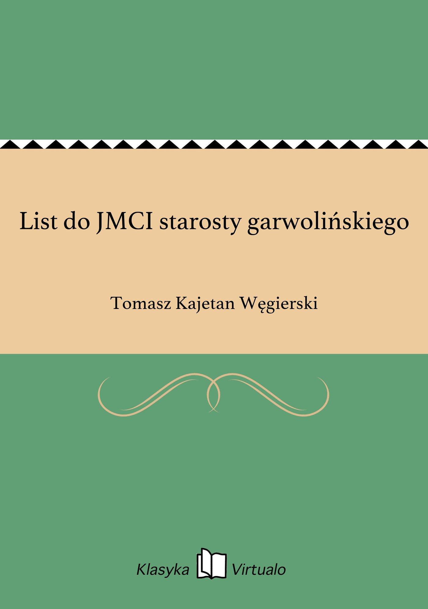 List do JMCI starosty garwolińskiego - Ebook (Książka EPUB) do pobrania w formacie EPUB