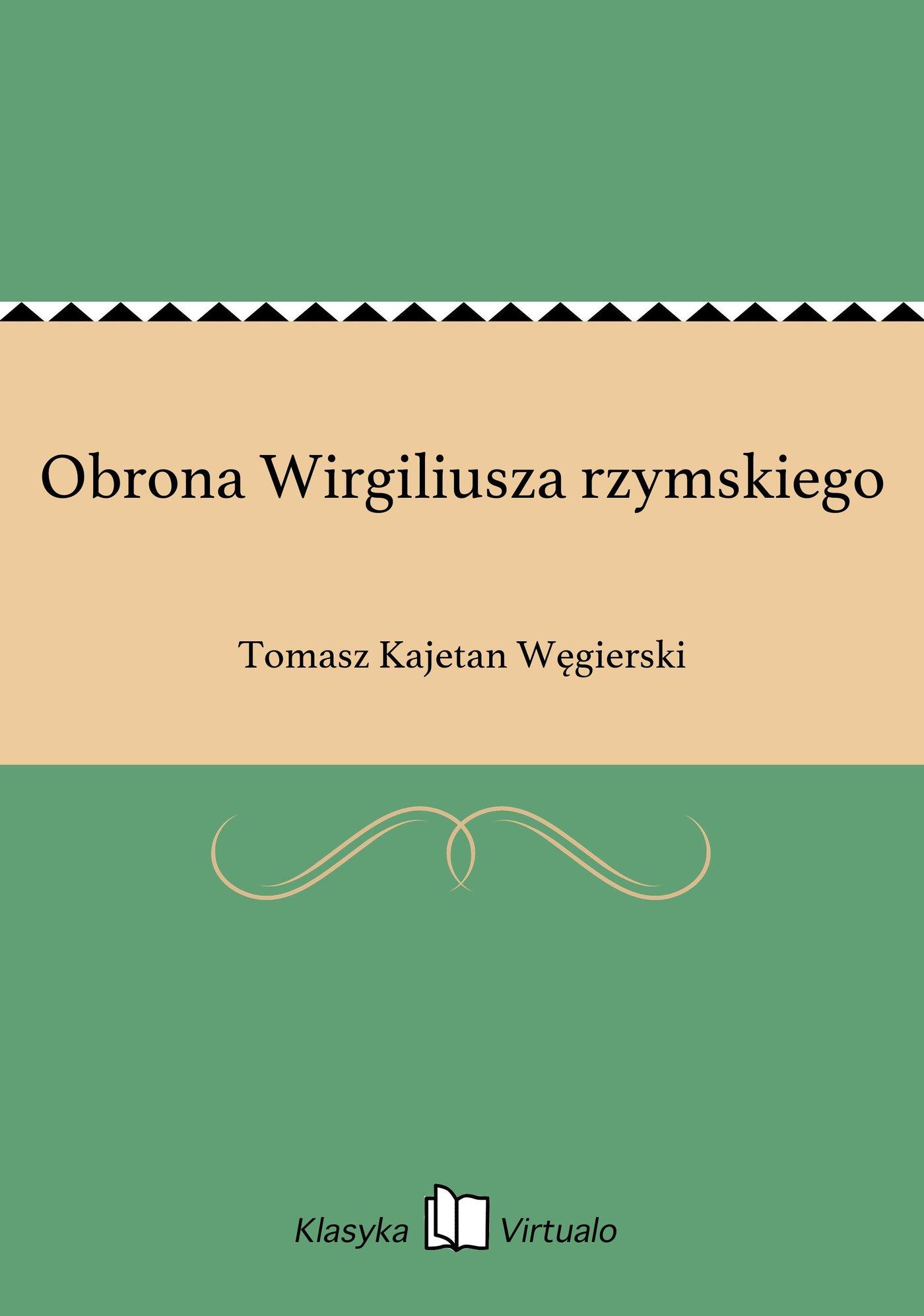 Obrona Wirgiliusza rzymskiego - Ebook (Książka EPUB) do pobrania w formacie EPUB