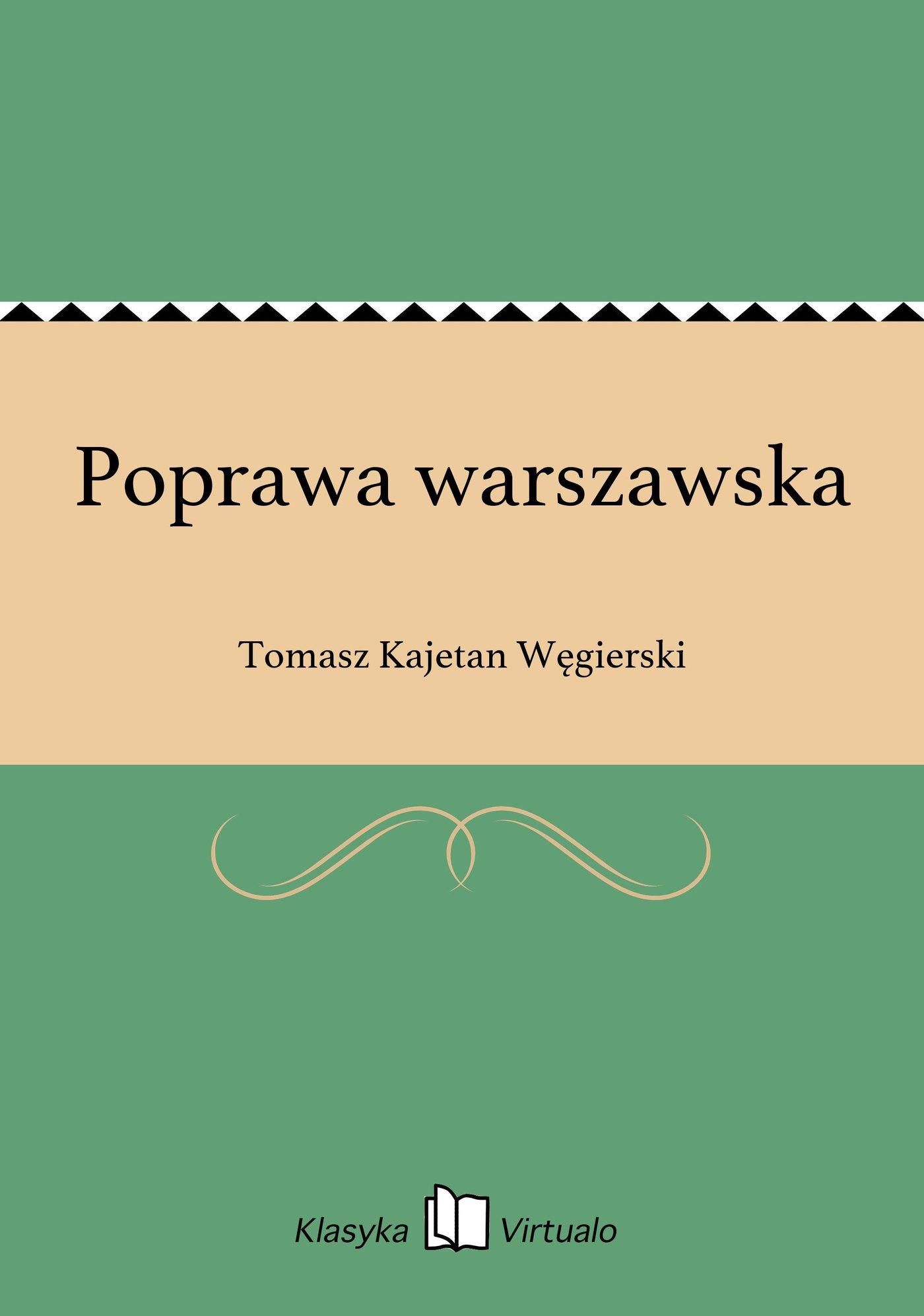 Poprawa warszawska - Ebook (Książka EPUB) do pobrania w formacie EPUB