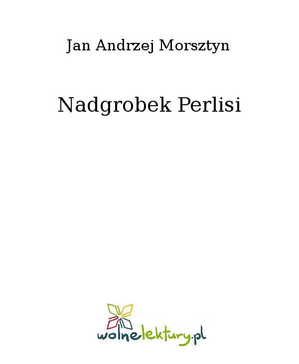 Nadgrobek Perlisi - Ebook (Książka EPUB) do pobrania w formacie EPUB