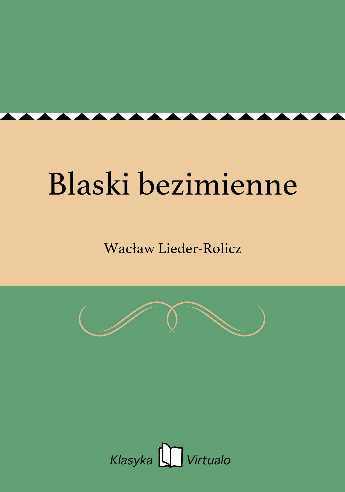 Blaski bezimienne - Ebook (Książka EPUB) do pobrania w formacie EPUB
