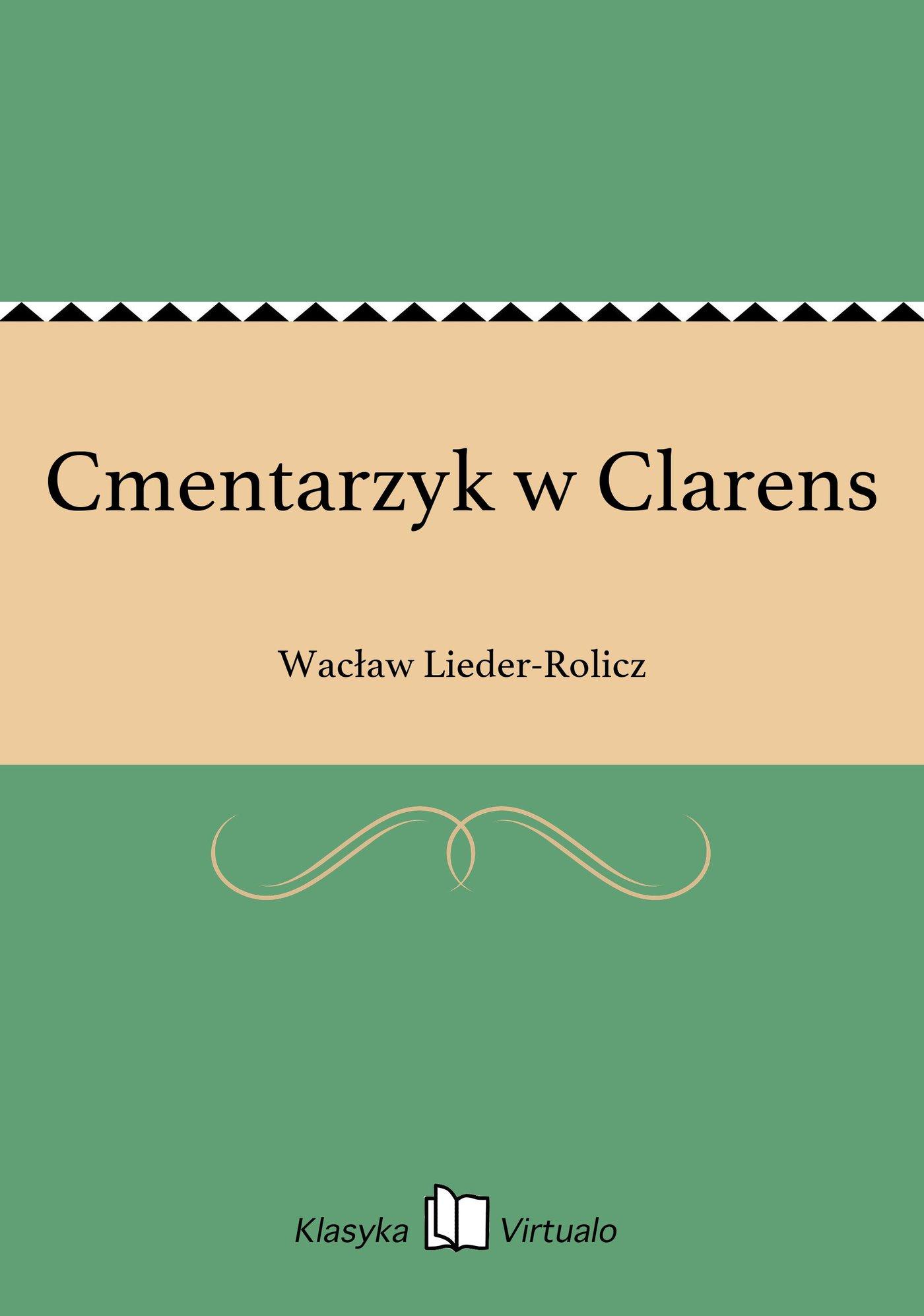 Cmentarzyk w Clarens - Ebook (Książka EPUB) do pobrania w formacie EPUB