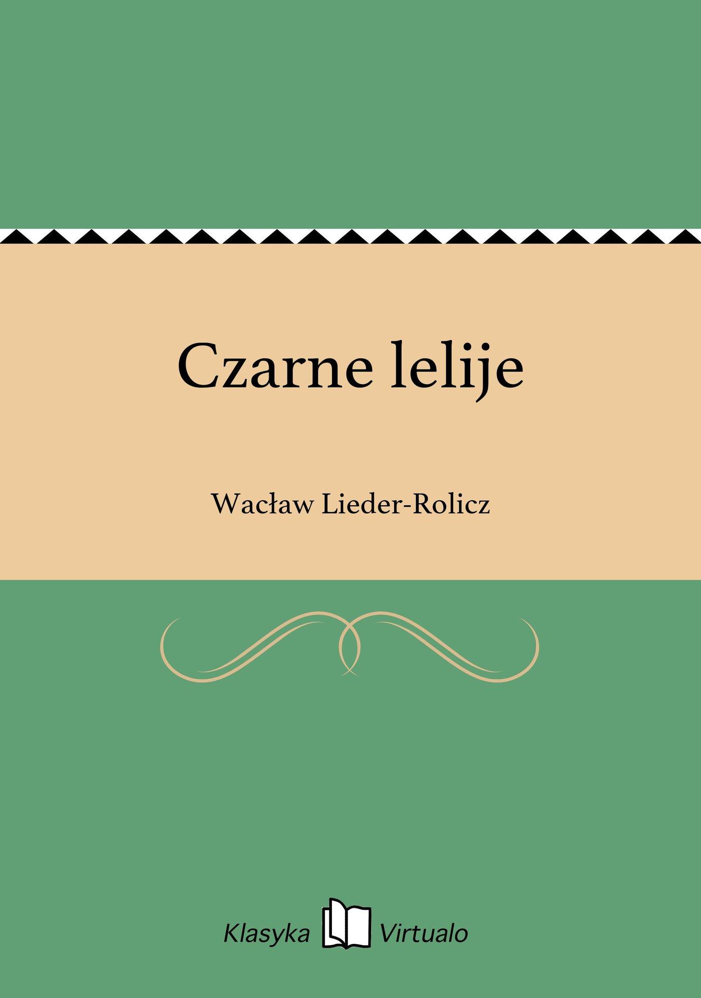 Czarne lelije - Ebook (Książka EPUB) do pobrania w formacie EPUB