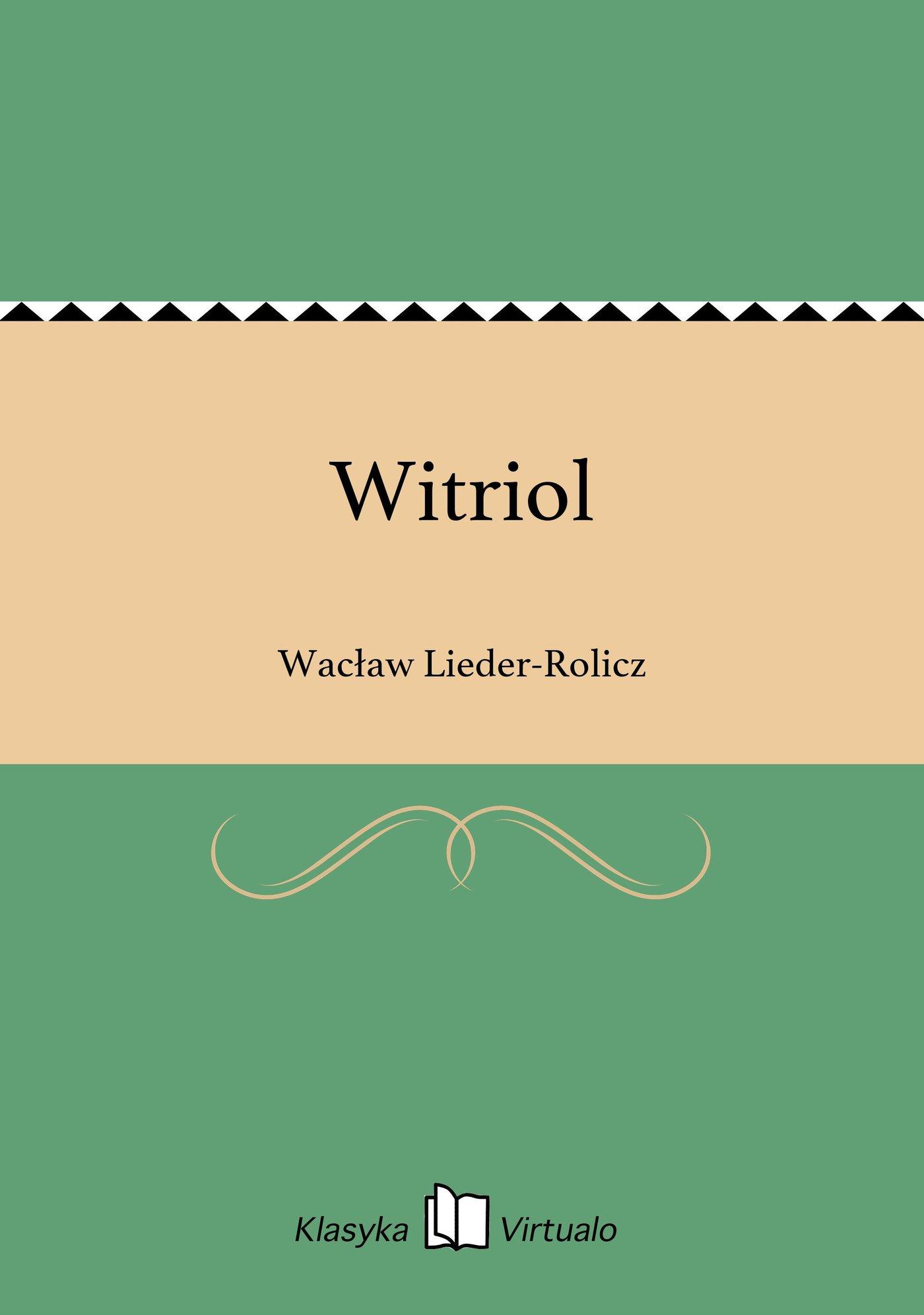 Witriol - Ebook (Książka EPUB) do pobrania w formacie EPUB