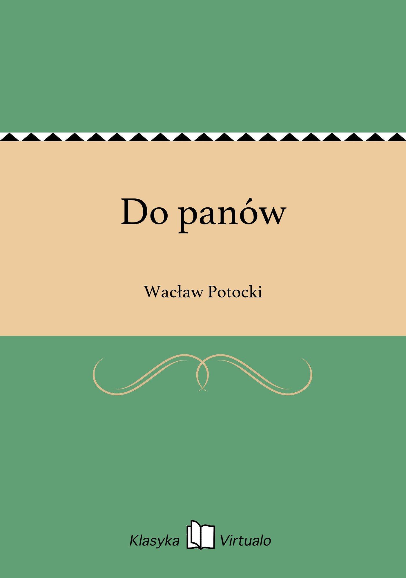 Do panów - Ebook (Książka EPUB) do pobrania w formacie EPUB