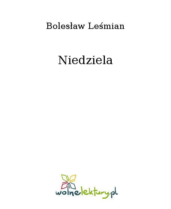Niedziela - Ebook (Książka EPUB) do pobrania w formacie EPUB