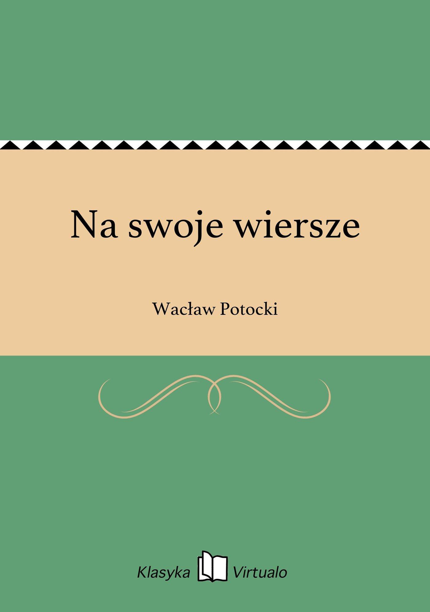 Na swoje wiersze - Ebook (Książka EPUB) do pobrania w formacie EPUB