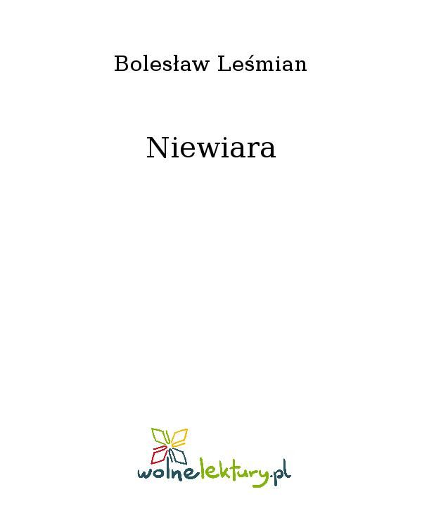 Niewiara - Ebook (Książka EPUB) do pobrania w formacie EPUB