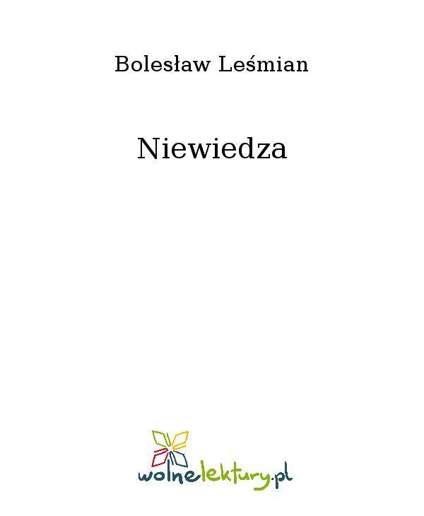 Niewiedza - Ebook (Książka EPUB) do pobrania w formacie EPUB